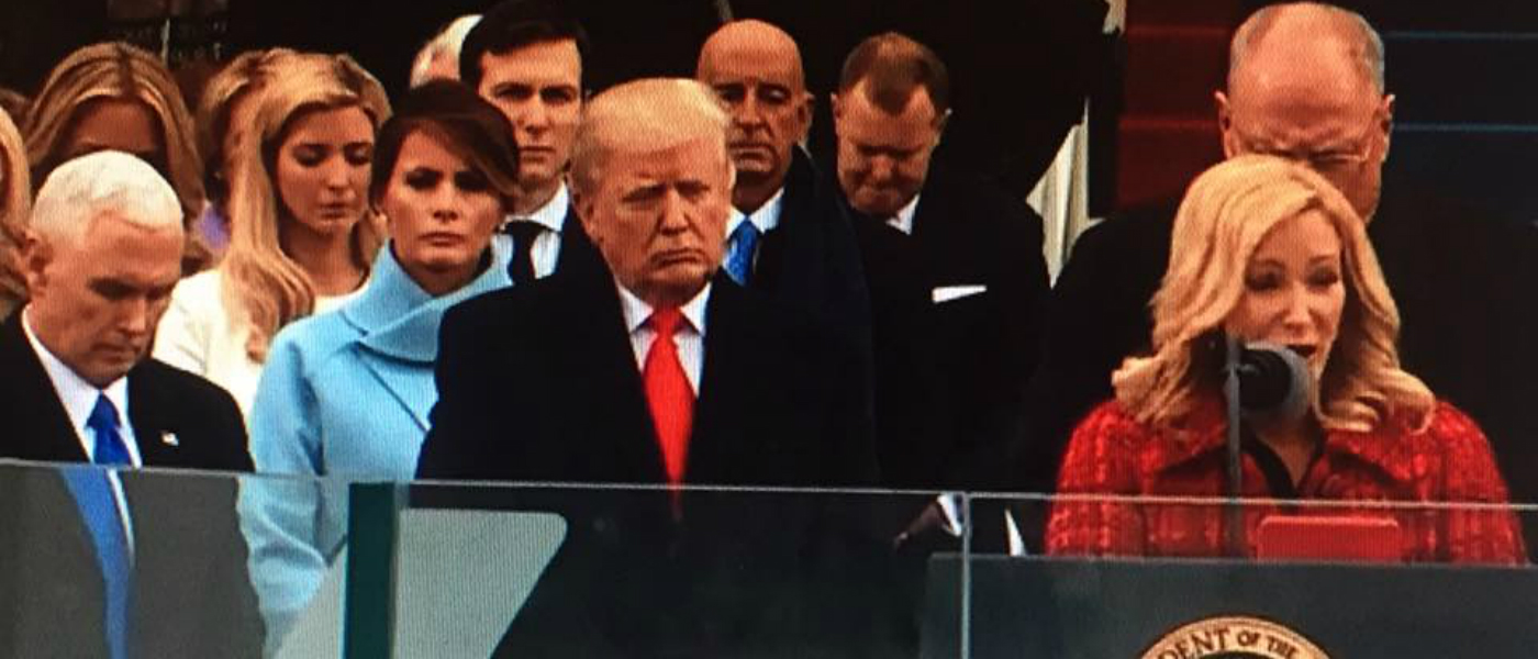 Paula White prays during Donald Trump inauguration