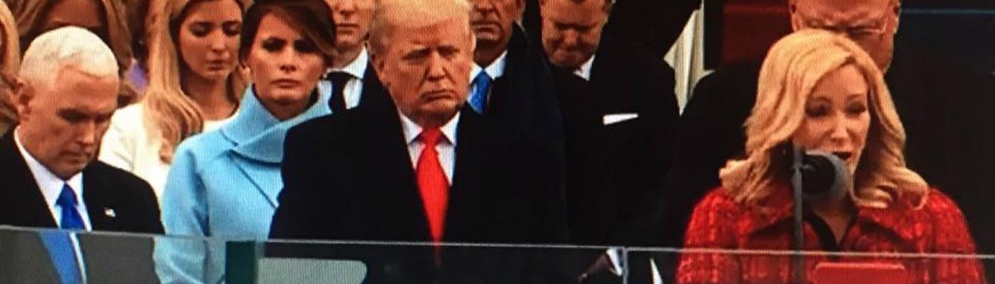 Paula White prays during Donald Trump inauguration