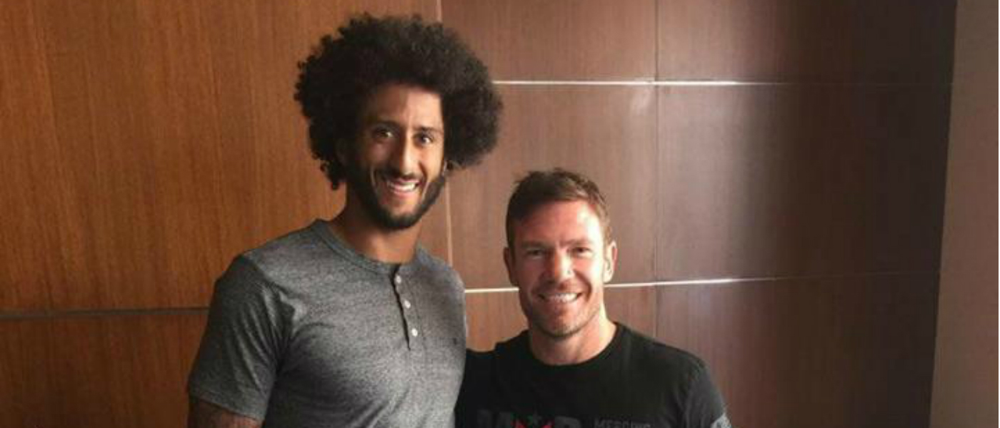 Colin Kaepernick and Nate Boyer reason together